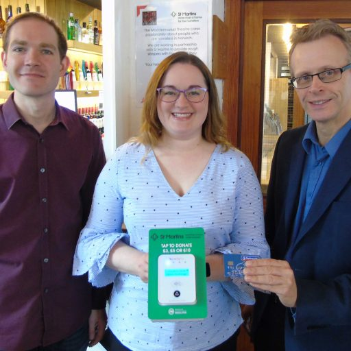 Featured image for The Maddermarket Theatre helps St Martins use new technology for donations