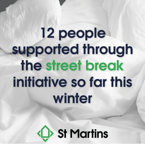 Featured image for Surviving Winter appeal is making difference to rough sleepers through 'street break' initiative