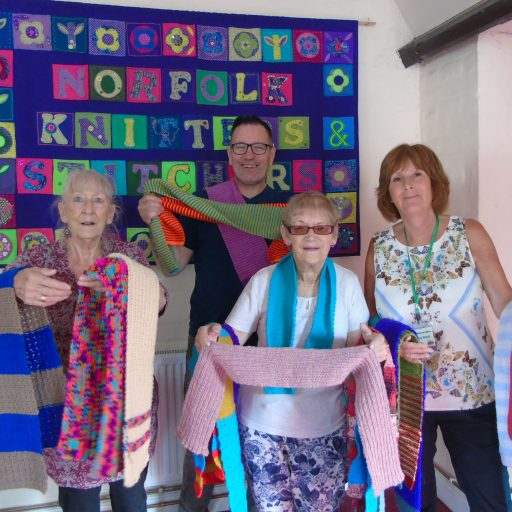 Featured image for Norfolk Knitters and WIs support knitted house project