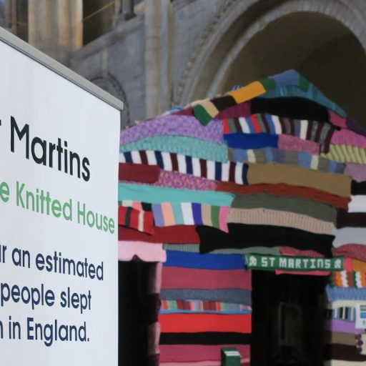 Featured image for Hundreds visit the Knitted House and over £2000 raised