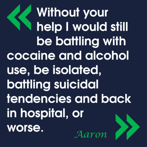 Featured image for Working in the community to prevent homelessness: Aaron's story